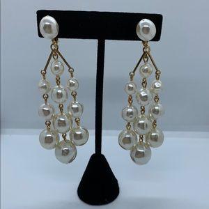 Pearl Chandelier Fashion Earrings